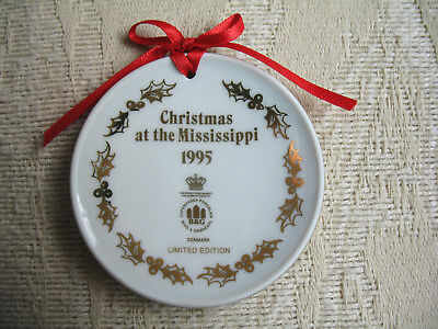 "Bing & Grondahl CHRISTMAS AT THE MISSISSIPPI 1995 Ornament MINI 2 1/8"" Plate VNG"