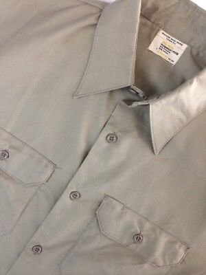 Vtg Big Mac Jc Penney Perma Press L/s New Old Stock Work Shirt Mens Medium Beige