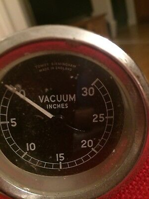 "Vacuum Car Gauge..2.75"" wide..Round.. 0 to 30 reading.,Tomey of Birmingham"