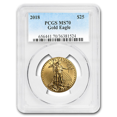 2018 1/2 oz Gold American Eagle MS-70 PCGS - SKU#181276