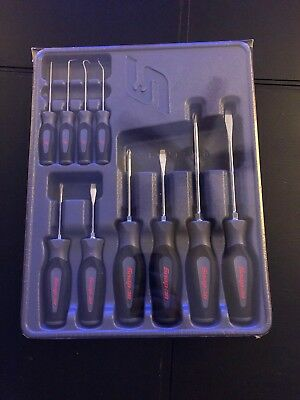 Brand New! Snap-On 10pc Screwdriver, Awl, Hook And Pick Set SGDX60204CDT
