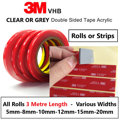 3M Strong Permanent Double Sided Super Sticky Foam Tape Roll For Vehicle Ca Y8R6