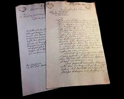 Lot Of Two German Documents 1803
