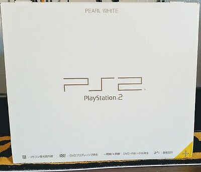 Sony PlayStation 2 Console Pearl White SCPH-50000 with BOX and Manual 2