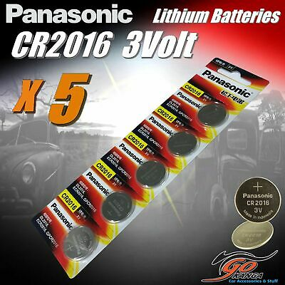 5 x CR2016 Genuine Panasonic 3v Lithium Coin Button Cell Batteries 90mAh Aus Sto