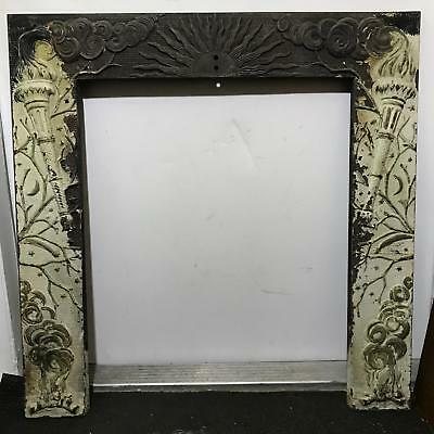 Antique Cast Iron Fireplace Mantle Architectural Salvage