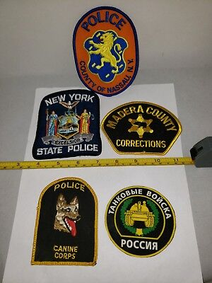 Lot#2C: 5-Police Patches(Nice Mixed Lot!!😊)
