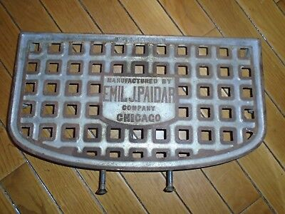 Antique EMIL PAIDAR BARBER CHAIR Parts Ankle Rest Support w/3 Screws NS527