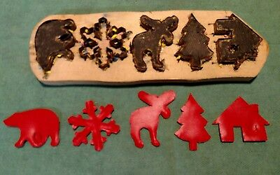 """Leather Tool - CLICKER DIE Makes Assorted Christmas Ornaments - 2"""" x  2"""""""