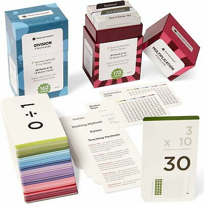 335 MULTIPLICATION AND DIVISION FLASH CARDS BUNDLE PACK | All Facts 0-12