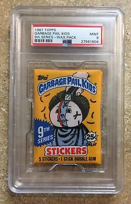 1987 Garbage Pail Kids 9th Series, PSA-9 MINT, Wax Pack, Beautiful OS9 Pack! TWT