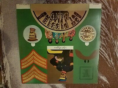 """Record Album Insert, Beatles Sgt. Peppers Lonely Hearts Club Band """"cut Outs"""" Nm!"""