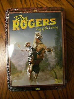 """Roy Rogers King of the Cowboys"" DVD 2 disc set in collectors tin New"