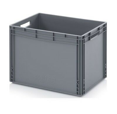 Plastic Container 60x40x42 Crate Transport Box Grey 88l