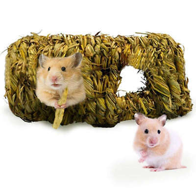 2X(Hand-Woven grass Tunnel Toy-Small Animal Activity Center From Pet-Safe,All R3