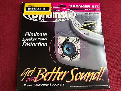 "Dynamat 10415 Self-Adhesive Sound Deadening For Two Speakers 10"" x 10"""