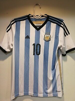 36d7476e54e Adidas 2014 Lionel Messi  10 Argentina National Soccer Team Jersey Youth XL