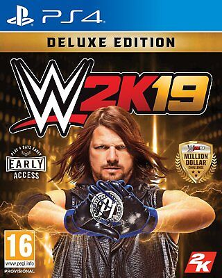 WWE 2K19 Deluxe Edition Sony Playstation PS4 Game 16+ Years