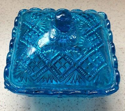 Blue Glass Covered Box