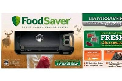 FoodSaver GameSaver Big Game Model: GM710 Vacuum Sealer Black New Portable NICE