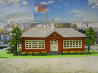 HO scale building school diorama weathered detailed light assembled