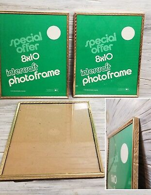 NEW Lot of 3 Matching INTERCRAFT 8x10 Picture Photo Frames Gold Ornate Metal