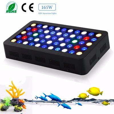 165W LED Aquarium Light Full Spectrum Reef Coral Marine Fish Tank Dimmable BE