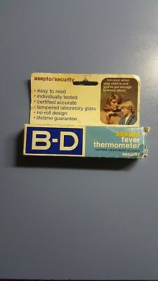 Vinage B-D Asepto Fever Thermometer new in box
