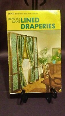 Vintage How to Make Lined Draperies Sewing Instruction Booklet.