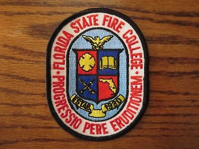Florida State Fire College Patch Rare Awesome!