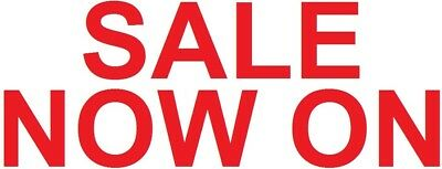 sale now on shop front window sign sticker reusable cling vinyl graphic decal