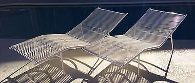 Mid Century Patio Contour Chaise Lounges, Eames Era not Brown Jordan, Refinished