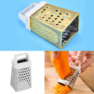 High Quality Mini 4 Sides Stainless Steel Handheld Grater Slicer Kitchen Tool DS