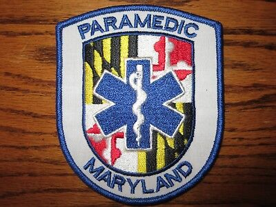 State Of Maryland Ems Paramedic Patch Rare Vintage Awesome!