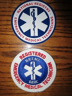 National Registry Emergency Medical Technician Emt Basic Patch & Decals New Wow!