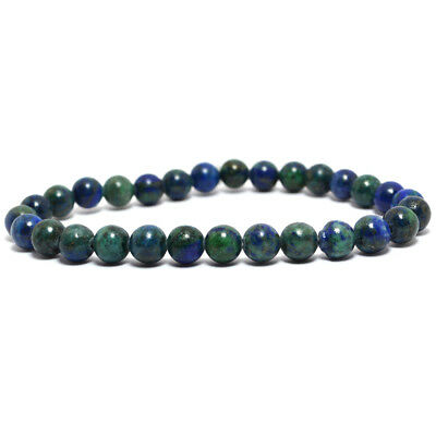 Azurite 6mm Bracelet Natural Round Beads Gemstone by Reiki Crystal Products
