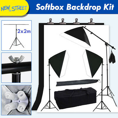 Softbox Backdrop Background T-Shape Stand Kit Continuous Lighting Soft Lihgt NEW