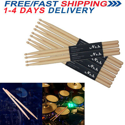 Drum Sticks High Quality Maple Wood Tip 5A Drumsticks Percussion Stick Xmas Gift