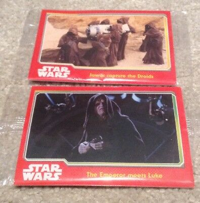 4 X Topps Journey to Star Wars: The Force Awakens Trading Cards.