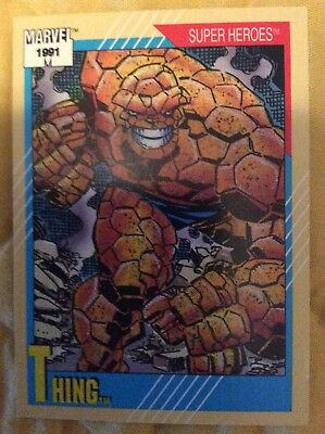 🎟 1991 Impel Marvel Universe Series 2 Trading Cards / Super Hero #3 Thing.