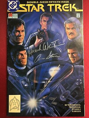 Star Trek 50th Anniversary Comic Signed & Film Photo Shoots