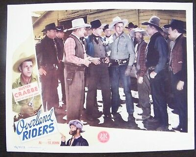 Overland Riders (1946) Original Western 11x14 Lobby Card #3 Buster Crabbe