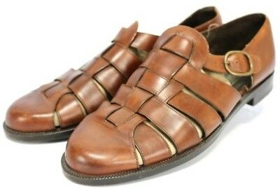 01f19da50163 COLE HAAN BRAGANO  195 Men s Fisherman Sandals Size 11 Brown Leather ...