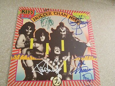 Kiss Signed Album Cover Only 1974  Record  Simmons Stanley  Frehley  Criss  Rare