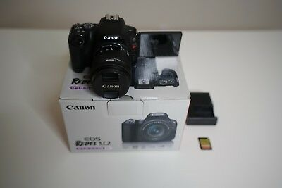 Canon EOS Rebel SL2 with 18-55mm Digital SLR Camera Kit+SanDisk 64GB ExtremeCard