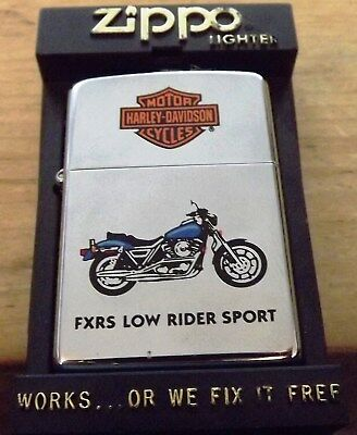 1994 Harley Davidson Fxrs Low Rider Official Licensed Product Zippo Lighter Nib