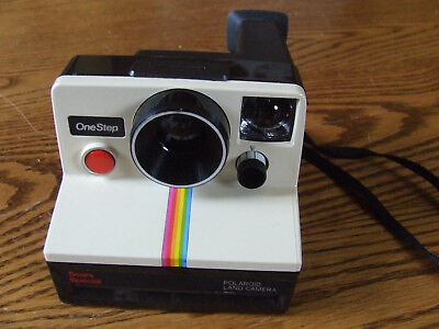 Polaroid Land Camera OneStep Sears Special GE Flash Bar Carry Case