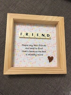 Beautiful Scrabble Birthday Present Perfect For Your Friend As A Gift