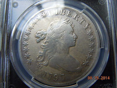 1797 Draped Bust Silver Dollar, Pcgs Vf Details, 10X6 Stars, 7000 Minted