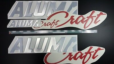 "Alumacraft Boat Emblem 32"" + FREE FAST delivery DHL express - Stickers Set"